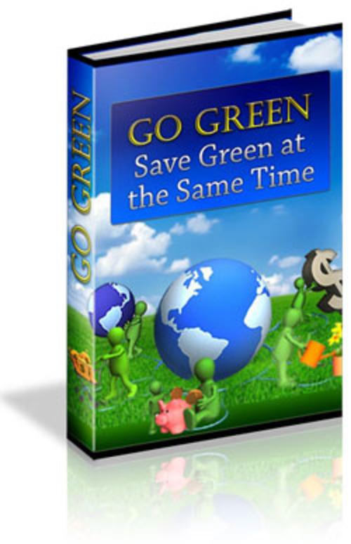 Pay for Go Green, Save Green MRR E-Book + Website + Bonus