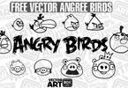 Thumbnail Vector Free Sketch Angry Birds