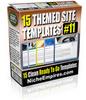 Thumbnail 15 Themed Site Templates Vol10 MRR.zip