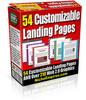 Thumbnail 54 Landing Page Templates MRR.zipx