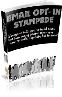 Pay for Email Opt-In Stampede Stampede