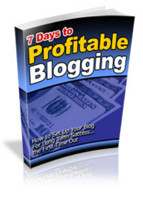 Pay for 7 Days To Profitable Blogging