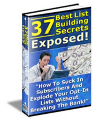 Pay for 37 Best List Building Secrets