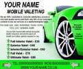 Thumbnail mobile valeting flyers,leaflet,business cards Templates