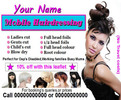 Thumbnail mobile hairdressing Business Templates forms
