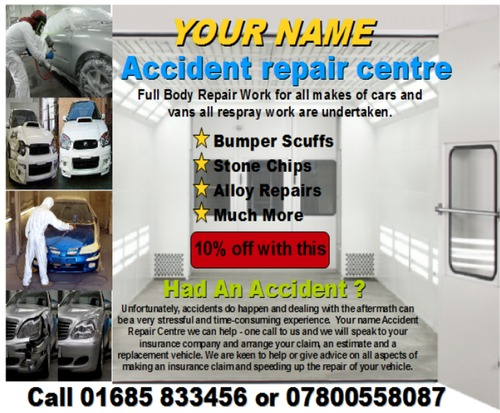 Pay for accident repair centre business templates