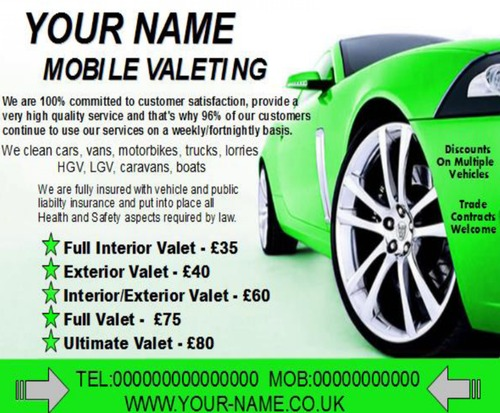 mobile valeting flyers,leaflet,business cards Templates - Download ...