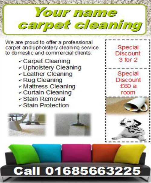 pay for carpet cleaning business templates forms