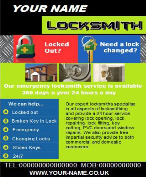 Pay for locksmith Business Templates forms