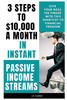 Thumbnail 3 Steps to 10000 Dollars a Month as Instant Passive Income S