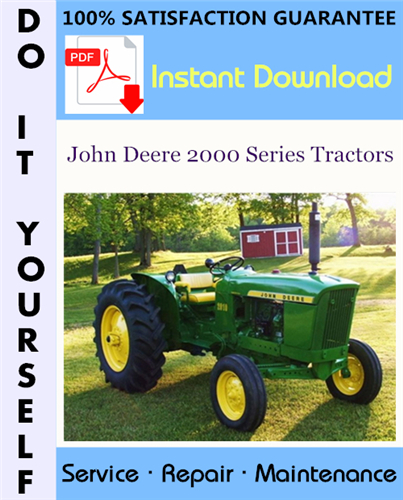 Thumbnail John Deere 2000 Series Tractors Service Repair Workshop Manual (SM2035) ☆