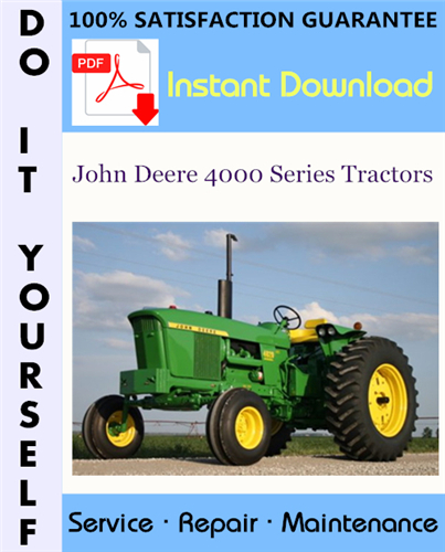 Thumbnail John Deere 4000 Series Tractors Service Repair Workshop Manual (SM2039) ☆
