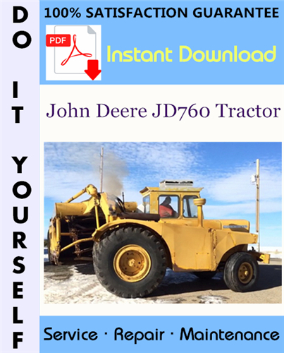 Thumbnail John Deere JD760 Tractor Service Repair Workshop Manual ☆