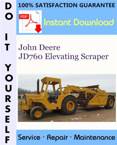 Thumbnail John Deere JD760 Elevating Scraper Service Repair Workshop Manual ☆