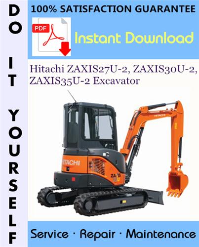 Thumbnail Hitachi ZAXIS27U-2, ZAXIS30U-2, ZAXIS35U-2 Excavator Technical Manual + Circuit Diagram ☆
