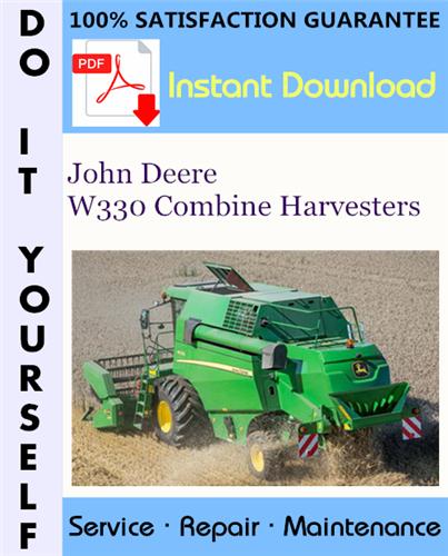 Thumbnail John Deere W330 Combine Harvesters Technical Manual ☆