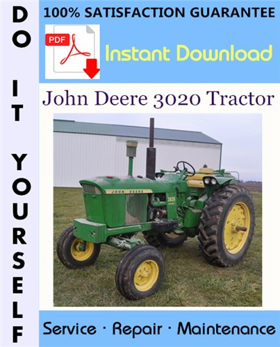 Thumbnail John Deere 3020 Tractor Technical Manual ☆