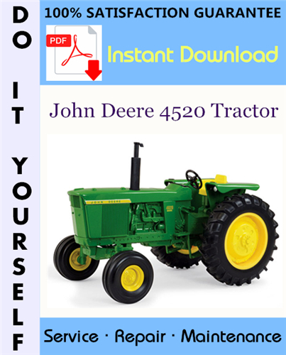 Thumbnail John Deere 4520 Tractor Technical Manual ☆