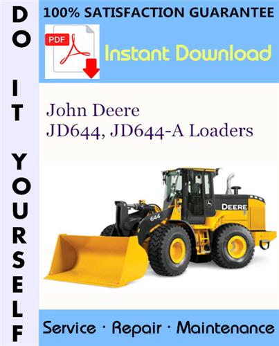 Thumbnail John Deere JD644, JD644-A Loaders Technical Manual ☆