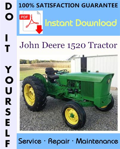 Thumbnail John Deere 1520 Tractor Technical Manual ☆