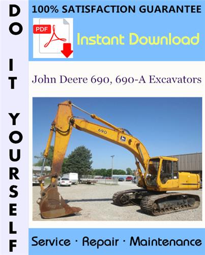 Thumbnail John Deere 690, 690-A Excavators Technical Manual ☆