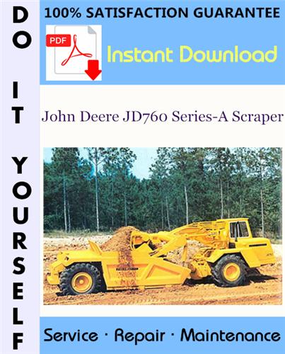 Thumbnail John Deere JD760 Series-A Scraper Technical Manual ☆