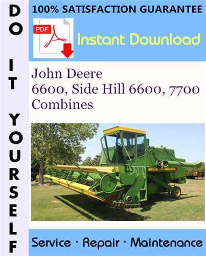 Thumbnail John Deere 6600, Side Hill 6600, 7700 Combines Technical Manual ☆