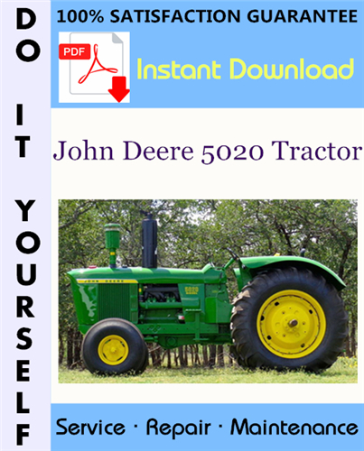 Thumbnail John Deere 5020 Tractor Technical Manual ☆