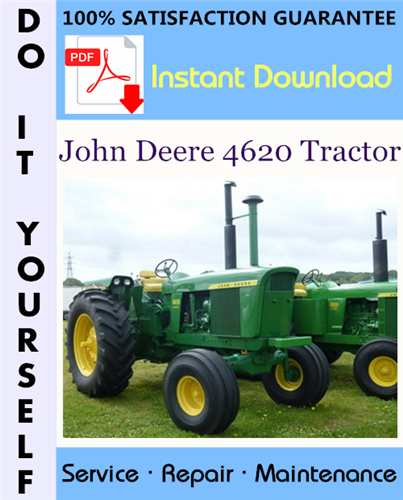 Thumbnail John Deere 4620 Tractor Technical Manual ☆