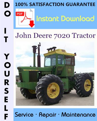 Thumbnail John Deere 7020 Tractor Technical Manual ☆