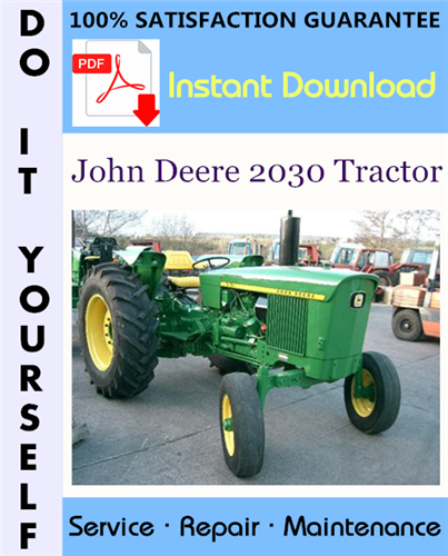 Thumbnail John Deere 2030 Tractor Technical Manual ☆