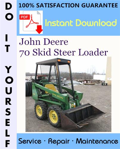 Thumbnail John Deere 70 Skid Steer Loader Technical Manual ☆
