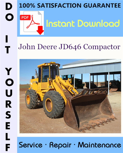 Thumbnail John Deere JD646 Compactor Technical Manual ☆