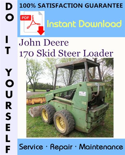 Thumbnail John Deere 170 Skid Steer Loader Technical Manual ☆