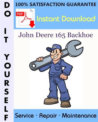 Thumbnail John Deere 165 Backhoe Service Repair Workshop Manual ☆