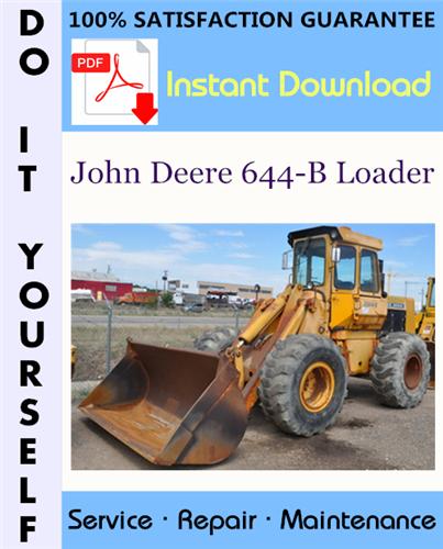 Thumbnail John Deere 644-B Loader Technical Manual ☆