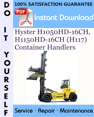 Thumbnail Hyster H1050HD-16CH, H1150HD-16CH (H117) Container Handlers Service Repair Workshop Manual ☆