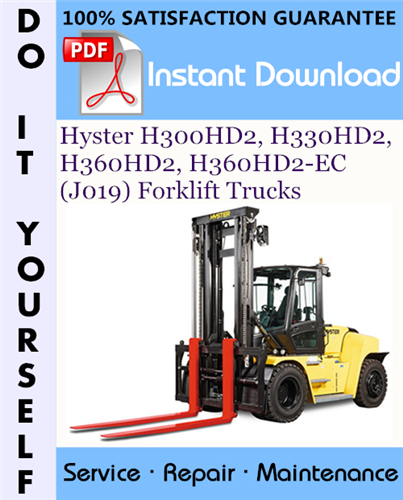 Thumbnail Hyster H300HD2, H330HD2, H360HD2, H360HD2-EC (J019) Forklift Trucks Service Repair Workshop Manual ☆