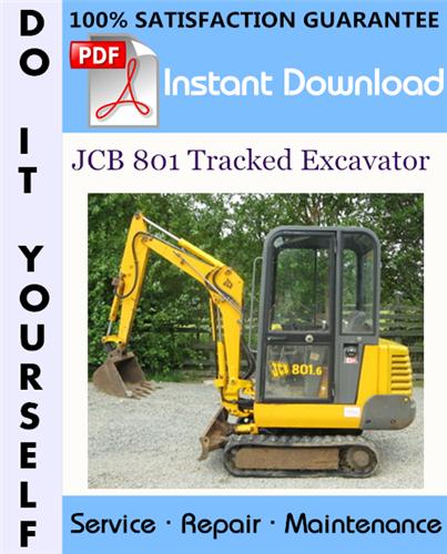 Thumbnail JCB 801 Tracked Excavator Service Repair Workshop Manual ☆