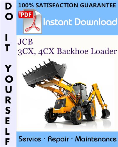 Thumbnail JCB 3CX, 4CX Backhoe Loader Service Repair Workshop Manual (sn: 3cx 4cx-290000 To 400000) ☆
