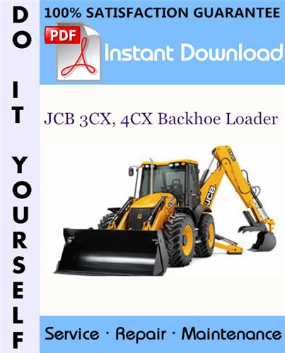 Thumbnail JCB 3CX, 4CX Backhoe Loader Service Repair Workshop Manual (S/N: 2000000 onwards) ☆