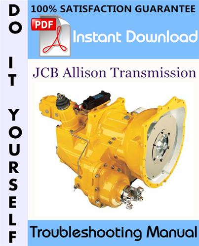 Thumbnail JCB Allison Transmission Troubleshooting Manual ☆