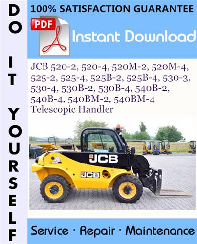 Thumbnail JCB 520-2, 520-4, 520M-2, 520M-4, 525-2, 525-4, 525B-2, 525B-4, 530-3, 530-4, 530B-2, 530B-4, 540B-2, 540B-4, 540BM-2, 540BM-4 Telescopic Handler Service Repair Workshop Manual ☆