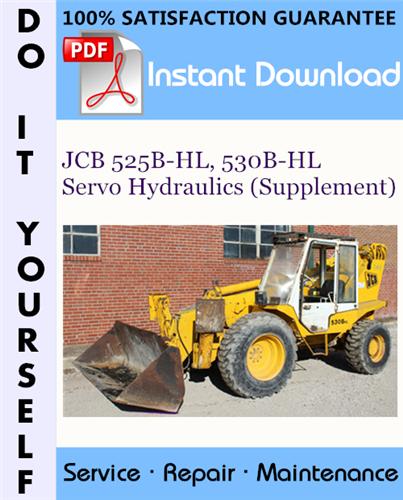 Thumbnail JCB 525B-HL, 530B-HL Servo Hydraulics Service Manual Supplement ☆