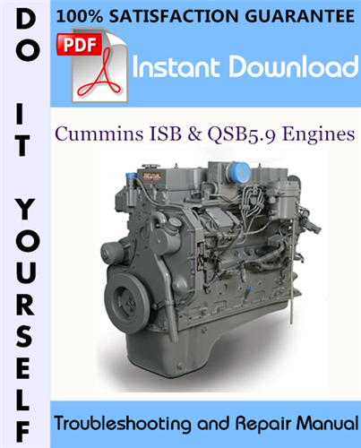 Thumbnail Cummins ISB & QSB5.9 Engines Troubleshooting and Repair Manual ☆