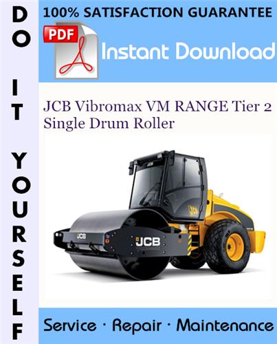 Thumbnail JCB Vibromax VM RANGE Tier 2 Single Drum Roller Service Repair Workshop Manual ☆
