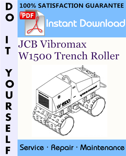 Thumbnail JCB Vibromax W1500 Trench Roller Service Repair Workshop Manual (up to Serial Number JKC42000799) ☆