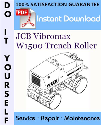 Thumbnail JCB Vibromax W1500 Trench Roller Service Repair Workshop Manual (Starting at S/N JKC4200800) ☆