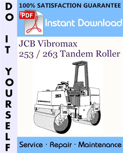Thumbnail JCB Vibromax 253 / 263 Tandem Roller Service Repair Workshop Manual ☆