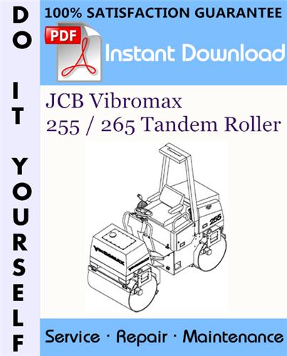 Thumbnail JCB Vibromax 255 / 265 Tandem Roller Service Repair Workshop Manual ☆